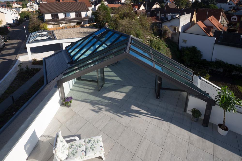 Terrassenüberdachung Eingang