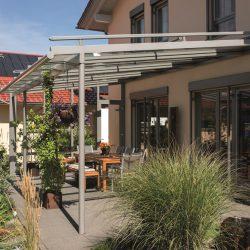 Terrassenüberdachung Rosengarten