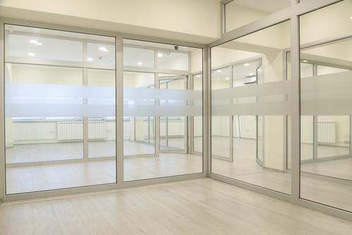 Glas Raumteiler